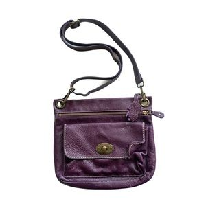 ROOTS Canada Genuine leather Purple Crossbody Bag